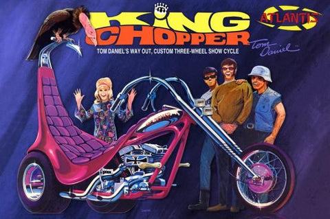 Atlantis Cars 1/8 Tom Daniel's Way Out Custom King Chopper II Three-Wheel Show Cycle (formerly Monogram) Kit