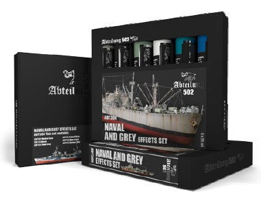 Abteilung 502 Naval & Grey Effects Weathering Oil Paint Set (6 Colors) 20ml Tubes