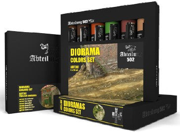 Abteilung 502 Diorama Weathering Oil Paint Set (6 Colors) 20ml Tubes