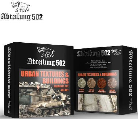 Abteilung 502 Urban Textures & Buildings Pigment Set (4 Colors) 20ml Bottles