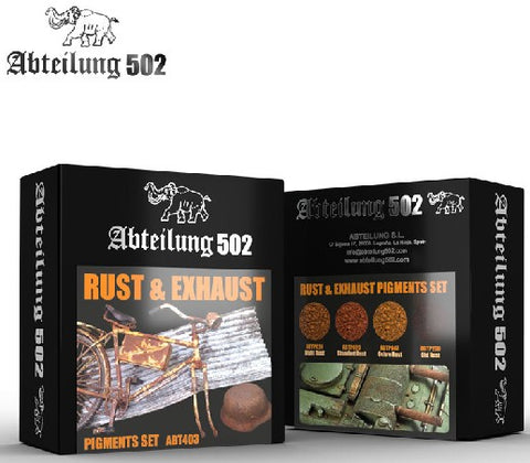 Abteilung 502 Rust & Exhaust Pigment Set (4 Colors) 20ml Bottles