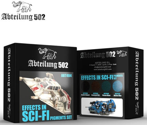 Abteilung 502 Effect in Sci Fi Pigment Set (4 Colors) 20ml Bottles