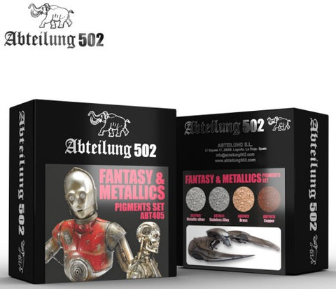 Abteilung 502 Fantasy & Metallics Pigment Set (4 Colors) 20ml Bottles