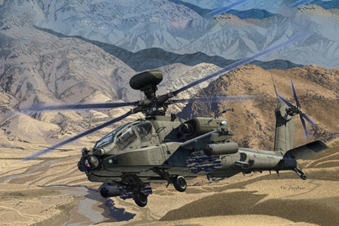Academy Aircraft 1/72 AH64D Afghanistan British Army Multi-Role Combat Helicopter Kit