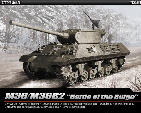 Academy Military 1/35 M36/M36B2 US Army Tank Destroyer Battle of Bulge Kit