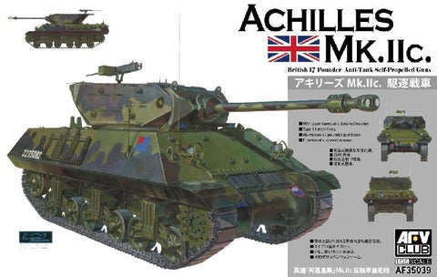 AFV Club Military 1/35 Achilles Mk IIc Tank w/British 17-Pdr Anti-Tank Self-Propelled Gun (Re-Issue) Kit