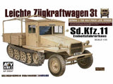 AFV Club Military 1/35 SdKfz 11 3-Ton Halftrack Late Type w/Wood Cab Kit