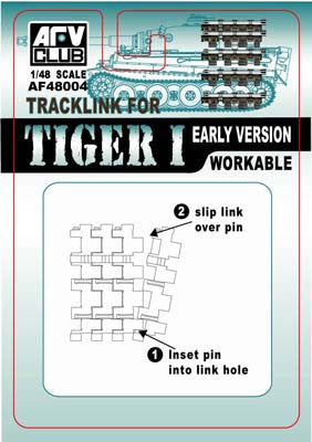 AFV Club Military1/48 Tiger I Early Version Workable Track Links Kit