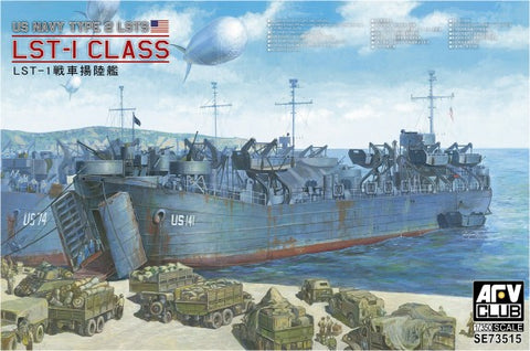 AFV Club Ships 1/350 WWII USN Type 2 LSTS LSR1 Class Tank Landing Ship Kit