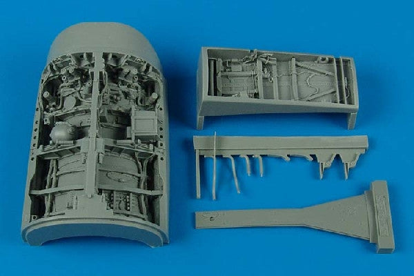 Aires Hobby Details 1/32 F16C Falcon Wheel Bay For ACY (Resin)