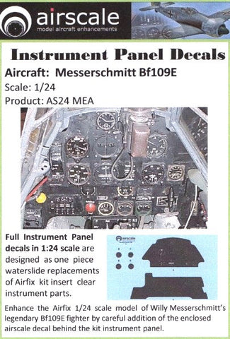 Airscale 1//24 NA P51D Mustang Instrument Panel decal 2404 N