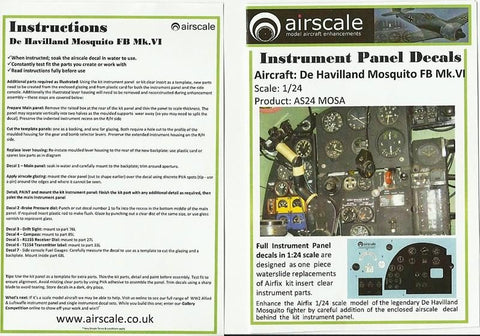 Airscale Details 1/24 WWII Allied Cockpit Placards & Dataplates (Decal)