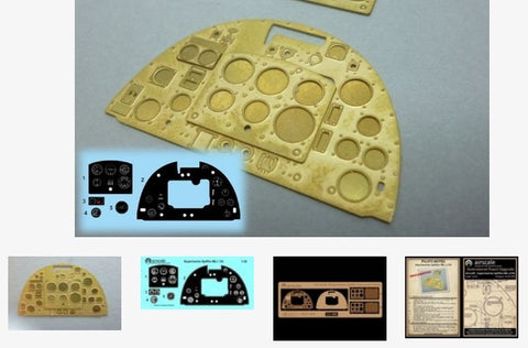 Airscale Details 1/24 Supermarine Spitfire Mk 1a Instrument Panel (Photo-Etch & Decal) for ARX