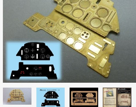 Airscale Details 1/24 Messerschmitt Bf109E Instrument Panel (Photo-Etch & Decal) for ARX