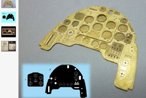Airscale Details 1/24 Junkers Ju87B Stuka Instrument Panel (Photo-Etch & Decal) for ARX