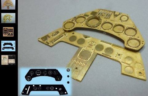 Airscale Details 1/24 Focke Wulf Fw190 Instrument Panel (Photo-Etch & Decal) for ARX