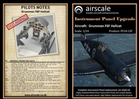 Airscale Details 1/24 F6F Hellcat Instrument Panel Upgrade (Photo-Etch & Decal) for ARX