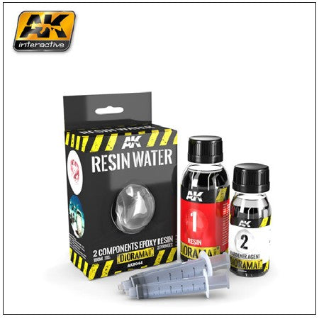 AK Interactive 	Diorama Series: Resin Water Effect 2-Components Epoxy 180ml