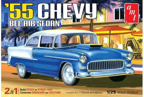 AMT Model Cars 1/25 1955 Chevy Bel Air Sedan Kit