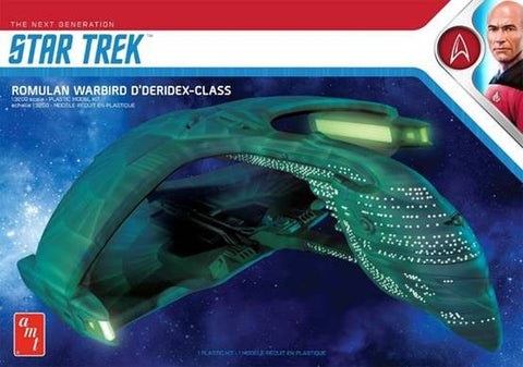 AMT Sci-Fi 1/3200 Star Trek The Next Generation Romulan Warbird D'Deridex Class Battle Cruiser Kit
