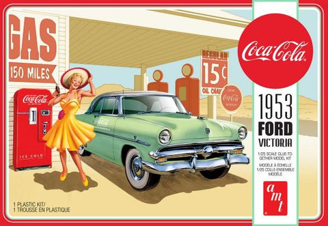 AMT Model Cars 1/25 1953 Ford Victoria Hardtop w/Coca-Cola Machine Kit