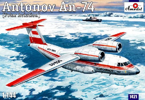 A Model From Russia 1/144 Antonov An74 Polar Soviet Commercial/Cargo Aircraft Kit