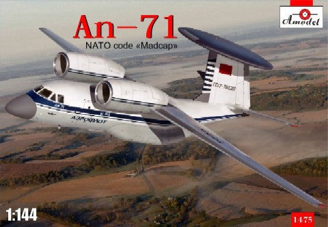 A Model From Russia 1/144 An71 NATO Code Madcap Soviet AWACS Aircraft Kit