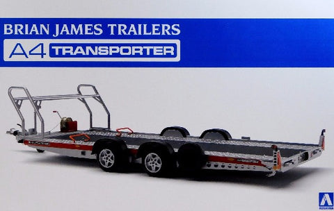 Aoshima Car Models 1/24 Brian James A4 Auto Transporter Trailer Kit