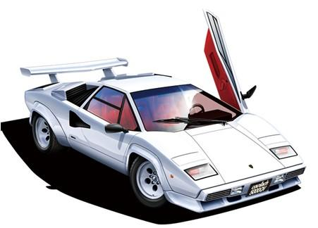 Aoshima Car Models 1/24 1985 Lamborghini Countach 5000QV Sorts Car Kit