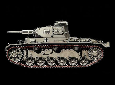 Armourfast Military 1/72 Panzer III Ausf G Tank (2) Kit