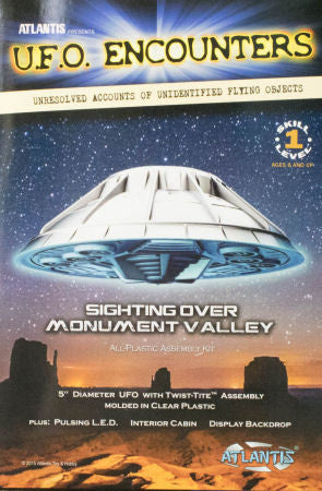 Atlantis Models UFO Sighting over Monument Valley w/LED Lights