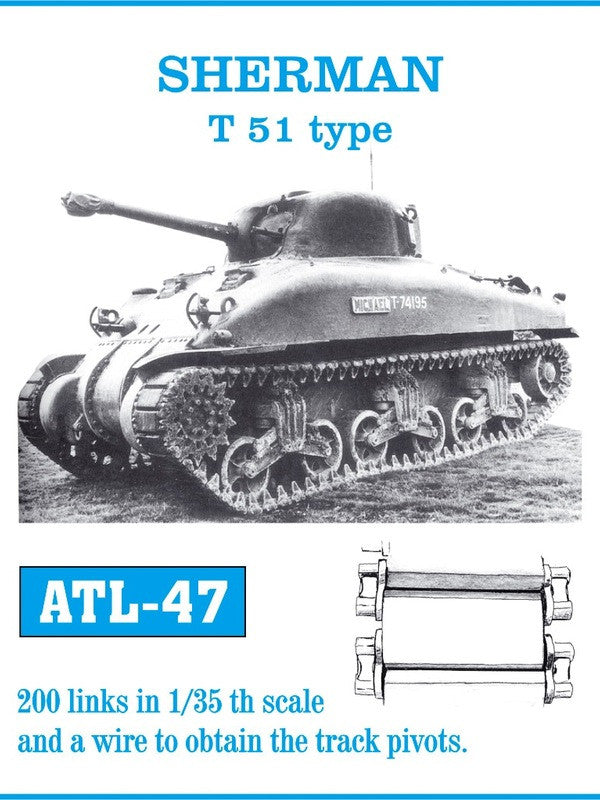 Friulmodel Military 1/35 Sherman T51 Track Set (200 Links)