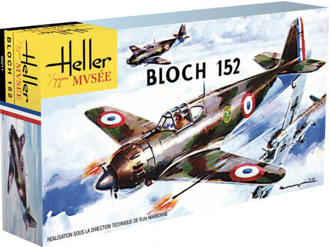 Heller Aircraft 1/72 Bloch 152C1 WWII French Fighter 60th Anniversary Ltd Re-Edition Kit