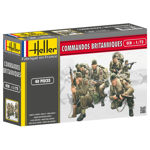 Heller Military 1/72 British Commandos (40) Kit