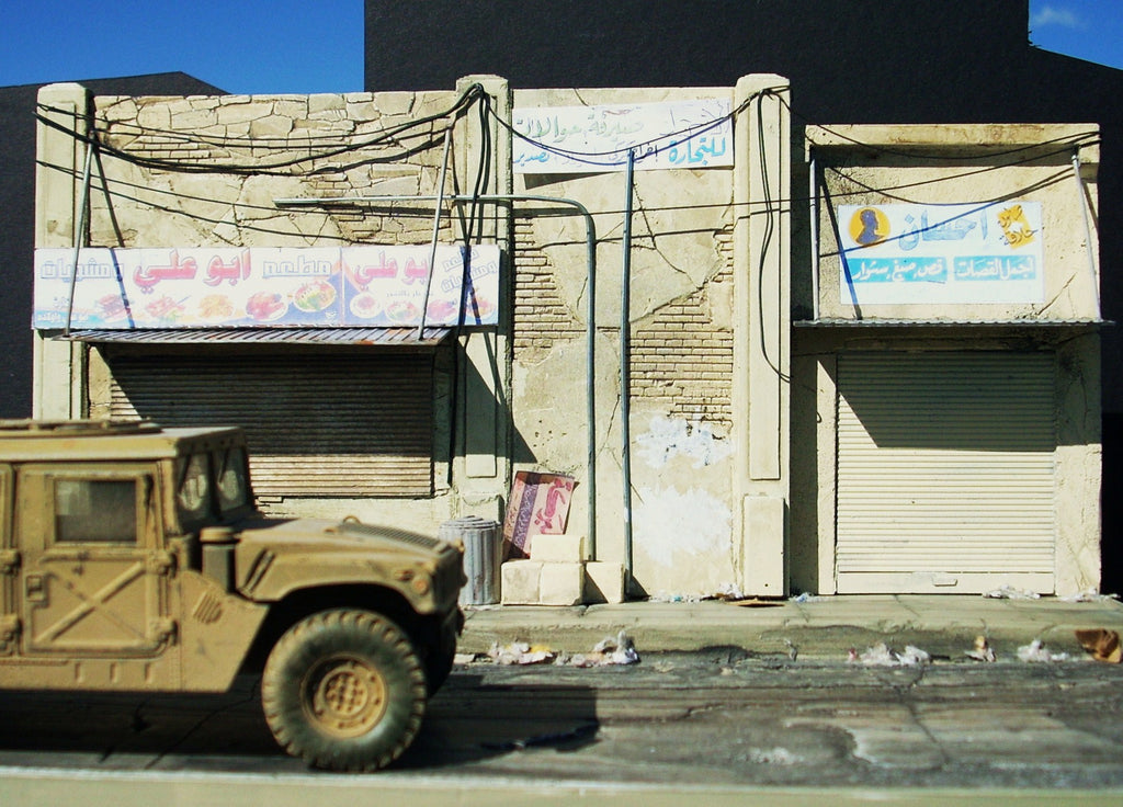 Dioramas Plus 1/35 Iraqi Street Scene Building Front w/Base Kit