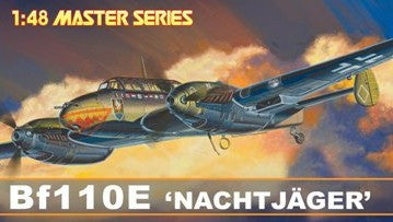 Dragon Models Aircraft 1/48 Bf110E Nachtjager Fighter Master Series Kit