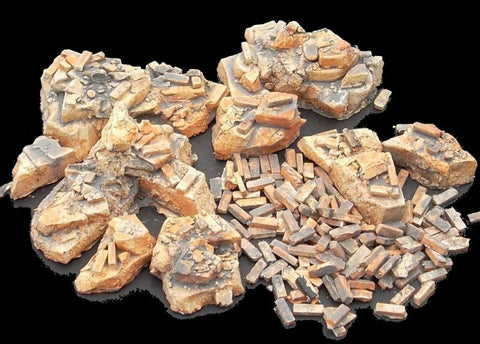 Dioramas Plus 1/35 Assorted Rubble & Bricks Kit