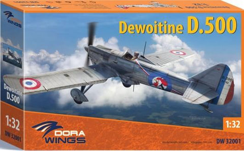 Dora Wings 1/32 Dewoitine D500 Aircraft (New Tool) Kit