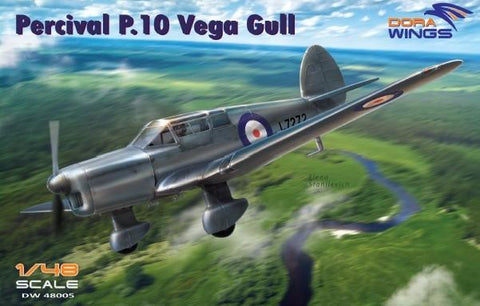 Dora Wings 1/48 Percival P10 Vega Gull British Four-Seater Aircraft Kit