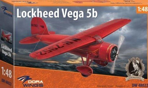 Dora Wings 1/48 Lockheed Vega 5b Amelia Earhart Aircraft (New Tool) Kit