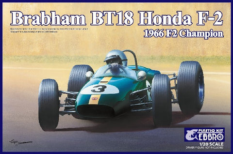 Ebbro Model Cars 1/20 1966 Brabham Honda BT18 F2 Champion Race Car Kit