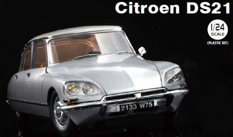Ebbro Model Cars 1/24 Citroen DS21 4-Door Car w/Interior/Engine Detail Kit