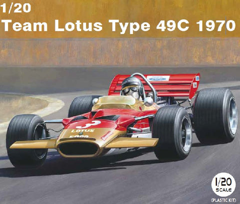 Ebbro Model Cars 1/20 1970 Lotus Type 49C Team Lotus F1 Race Car Kit