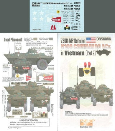 Echelon Decals 1/35 720th MP Battalion V100 Commando ACs Vietnam Pt2