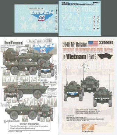 Echelon Decals 1/35 504th MP Battalion V100 Commando ACs Vietnam Pt5