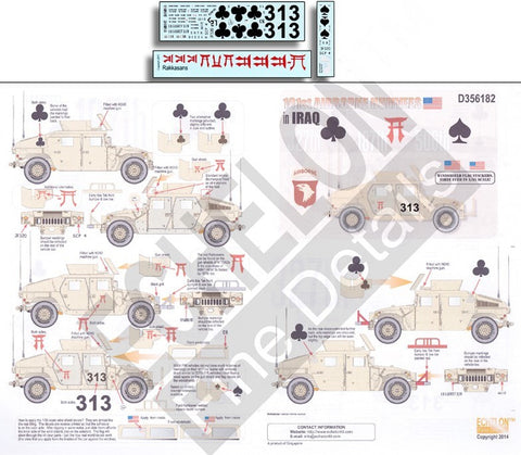 Echelon Decals 1/35 101st Airborne Humvees Iraq
