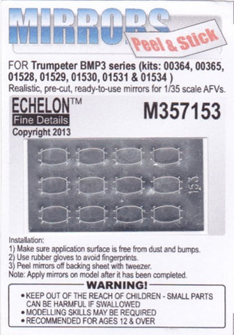 Echelon Decals 1/35 BMP3 Mirrors for TSM (Peel & Stick)