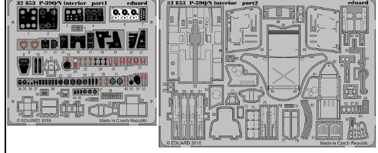 Eduard Details 1/32 Aircraft- P39Q/N Interior for KTY (Painted)
