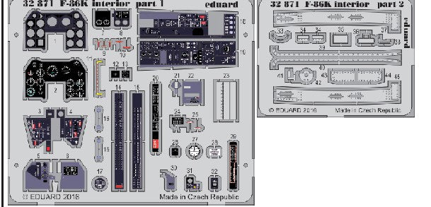 Eduard Details 1/32 Aircraft- F86K Interior for KTY (Painted)