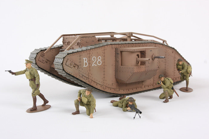 Tamiya Military 1/35 WWI British Mk IV Male Tank w/Single Motor & 5 Crew Kit